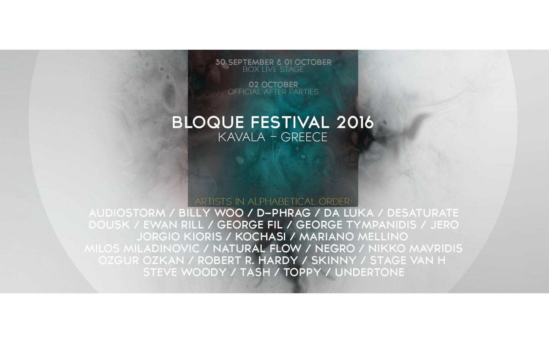 Bloque Festival 2016